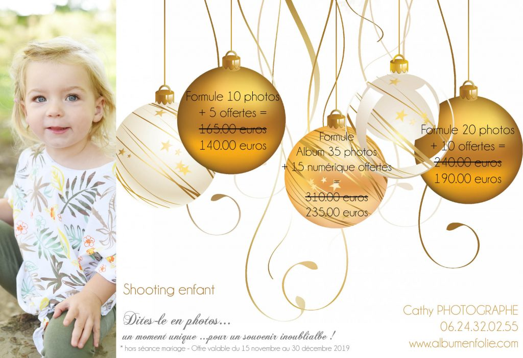 Offres de Noel portraits enfants 2019