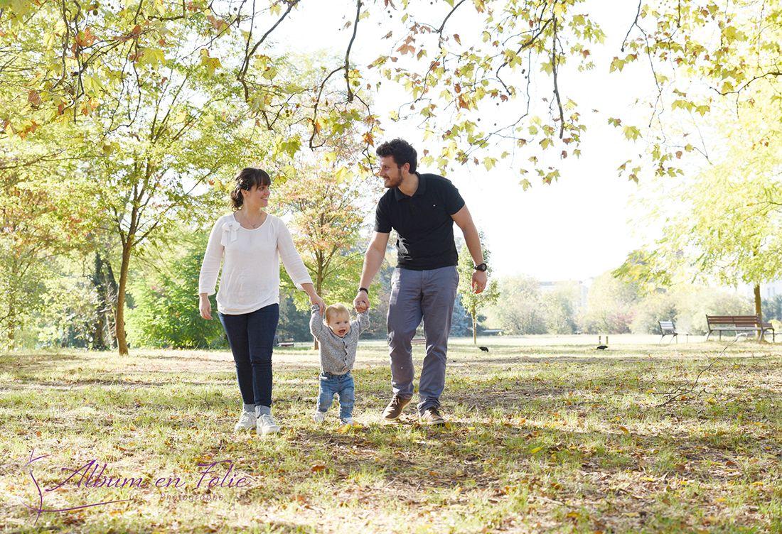 Séance photo père enfant parc à Lyon