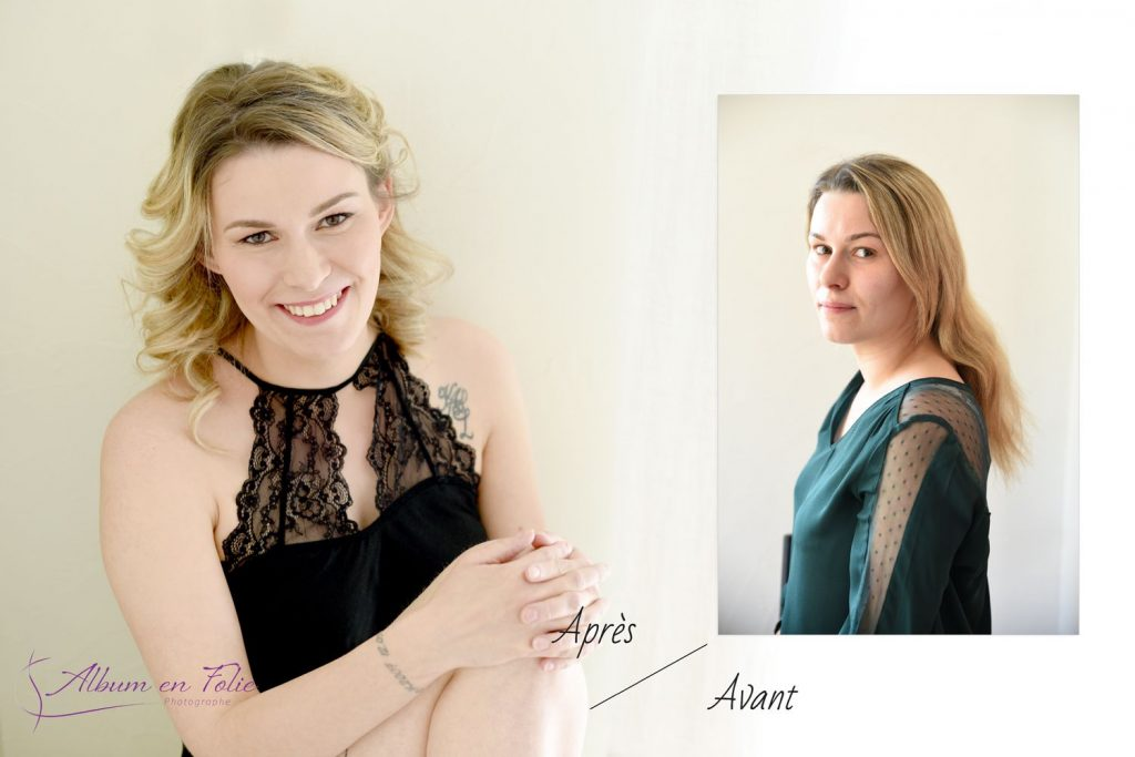 Shooting femme portrait glamour Lyon