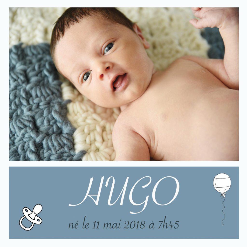 hugo faire part naissance