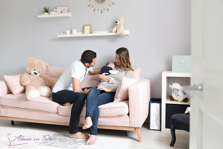 séance photo naissance en famille à Lyon