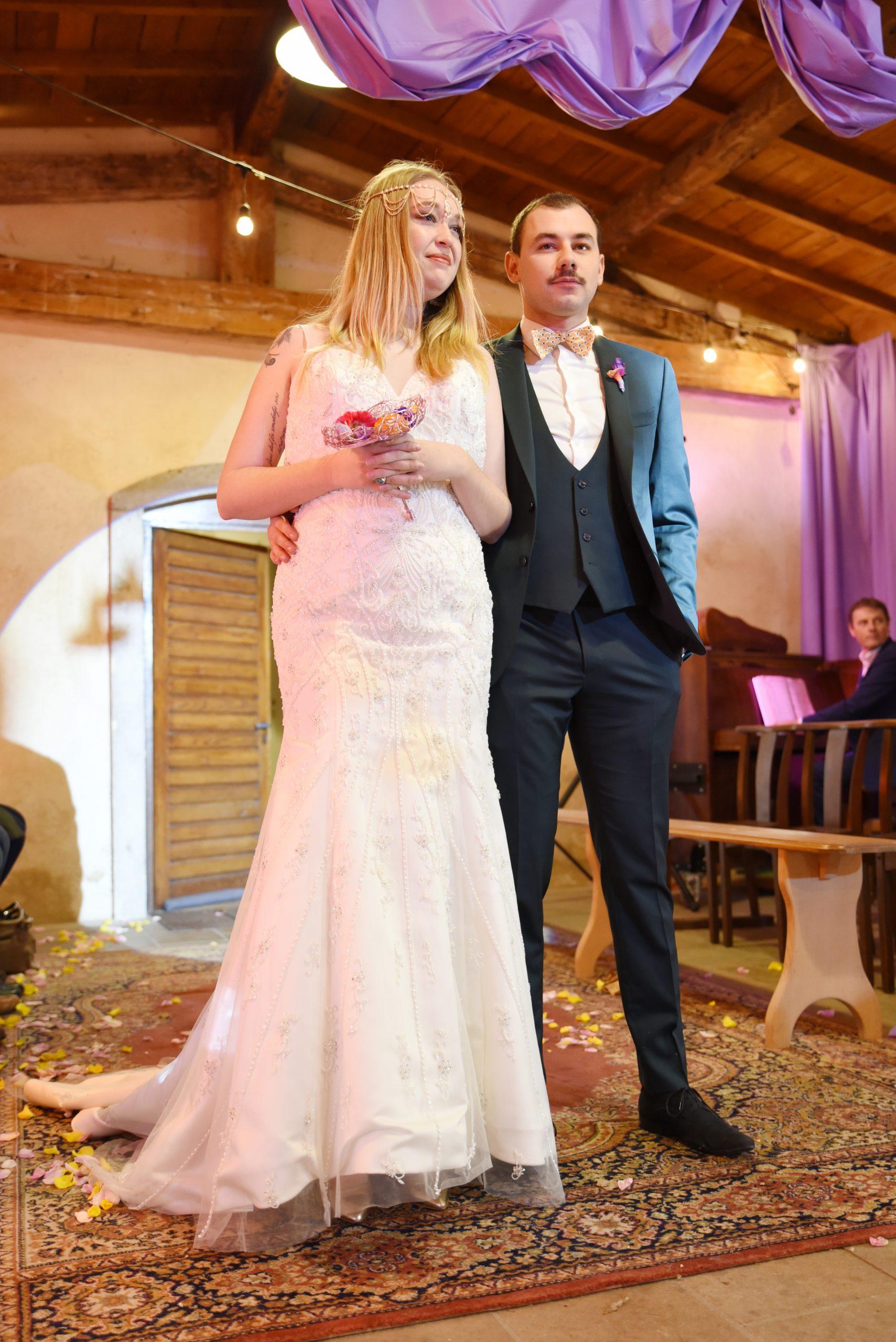 Défilé couple salon du mariage