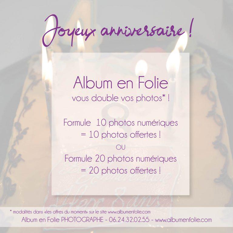 Promo Album en FOlie anniversaire