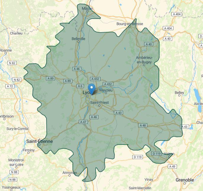 Zone géographique 4 60€