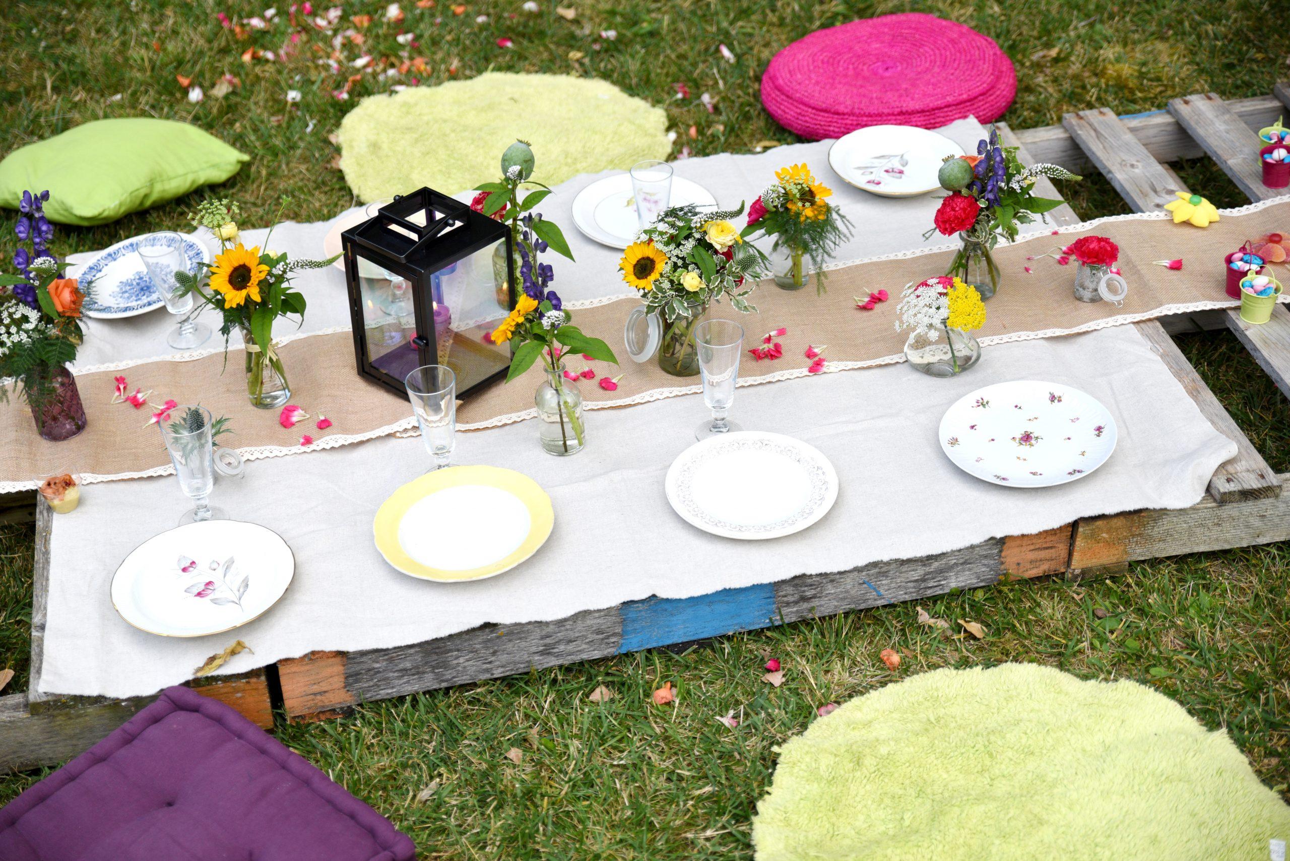table champêtre pour baptème