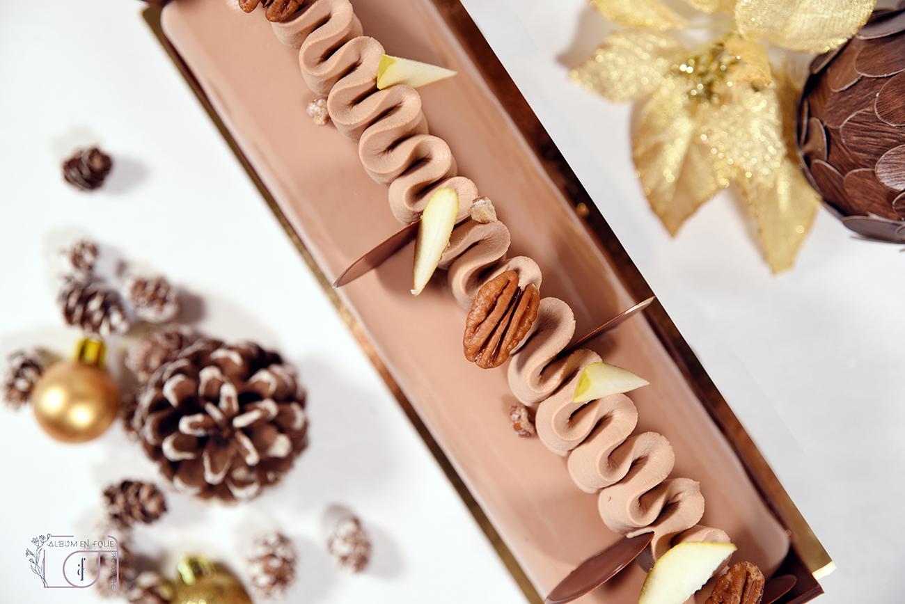 Bûche chocolat marron C.TULOUP