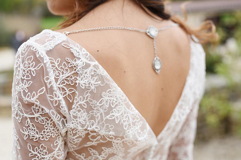 Bijoux de dos pour mariée