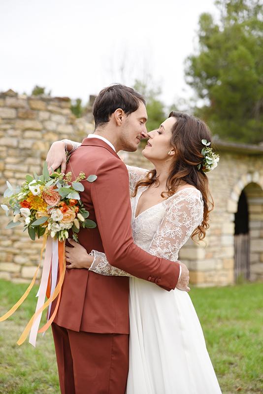 Photo de couple mariage d'octobre
