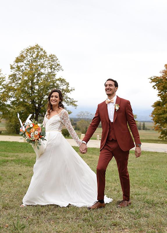 Tenues de mariage automnal