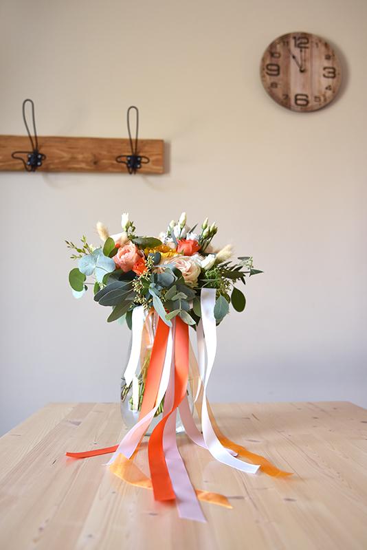 bouquet de marié automnal