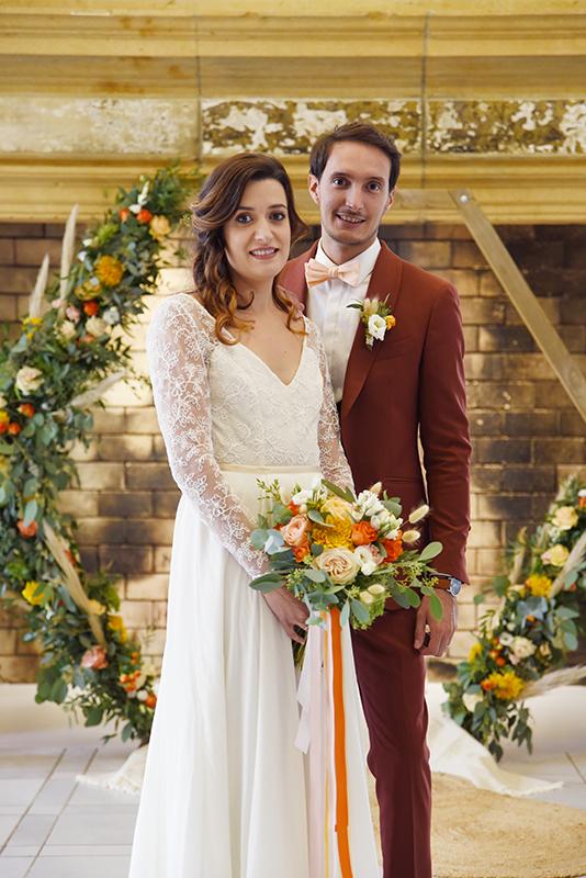 les mariés et décoration mariage