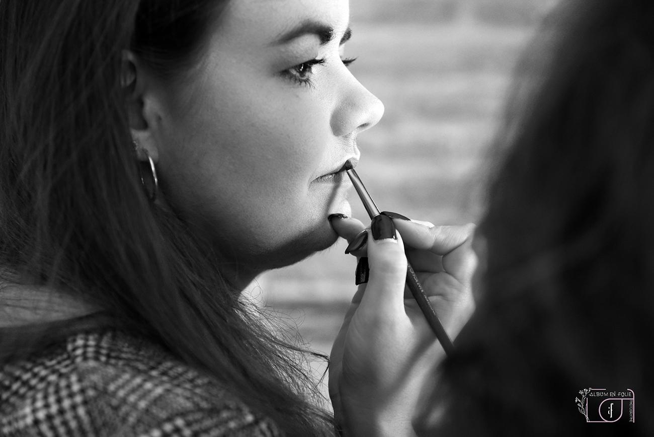 Séance photo maquillage boudoir