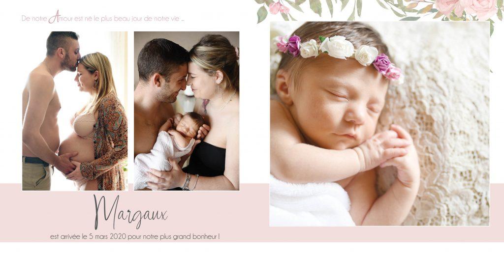 Faire-part de naissance fleuris2